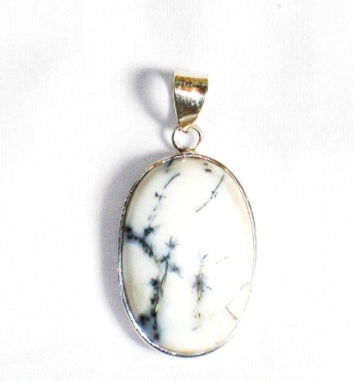 PN251     Dendrite Opal Pendant in Sterling Silver