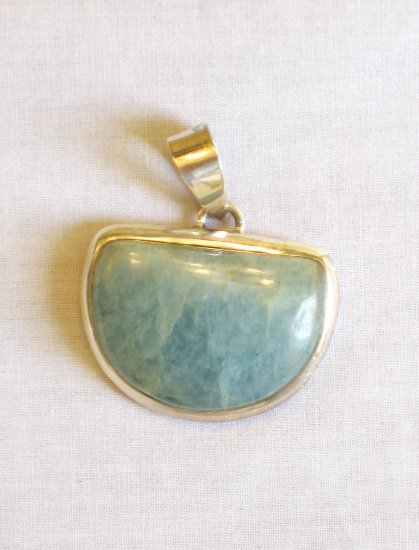 PN431    Flourite Pendant in Sterling Silver
