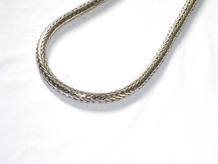 AQ137  18 inch   Antique Silver Chain