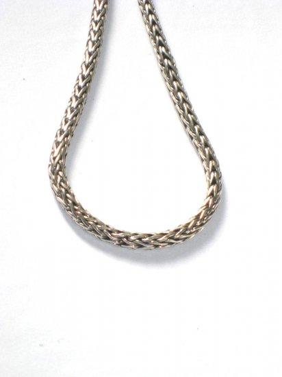 AQ141  14 inch    Antique Silver Chain