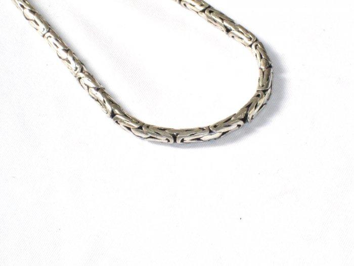 AQ144  17 inch   Antique Silver Chain