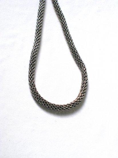AQ145  17 inch   Antique Silver Chain