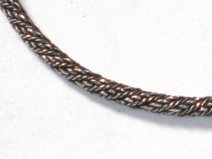 AQ146  14 inch    Antique Silver Chain