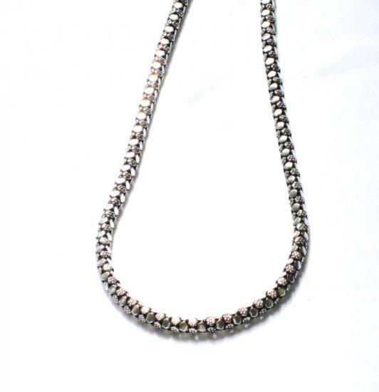 AQ148  18 inch   Antique Silver Chain