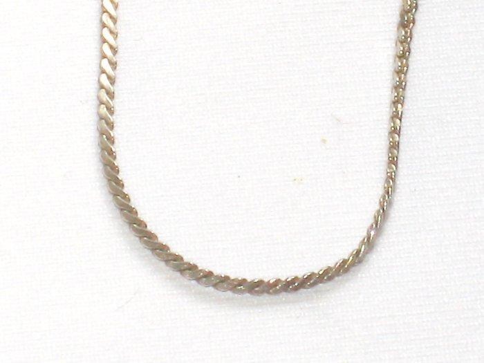 AQ158  18 inch   Antique Silver Chain