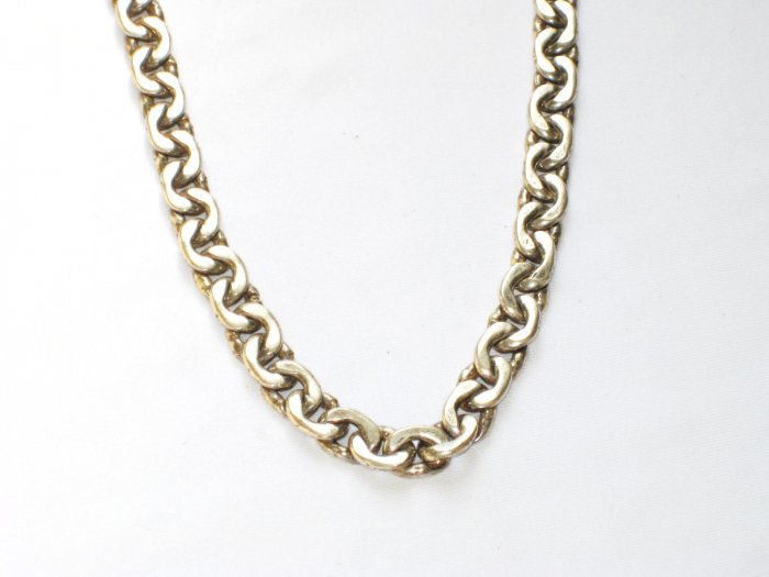 AQ166  18 inch   Antique Silver Chain