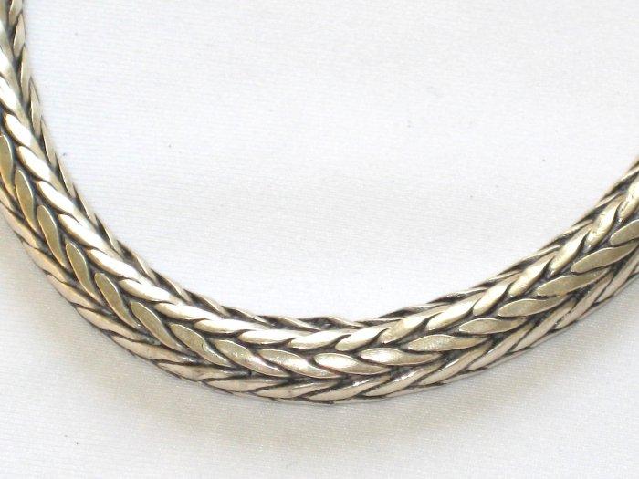 AQ167  18 inch   Antique Silver Chain