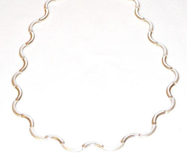 MD002       Linked Bracelet and Necklace Set in Sterling Silver