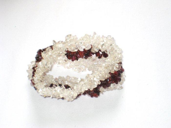 ST136       CZ and Garnet Bracelet