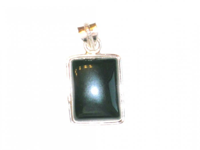 PN103       Moss Agate Pendant in Sterling Silver