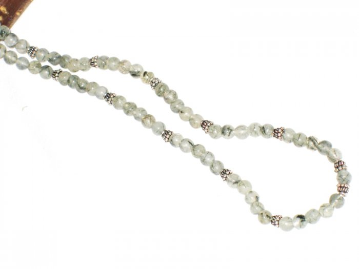 ST561       Rutilated Quartz  Necklace in Sterling Silver