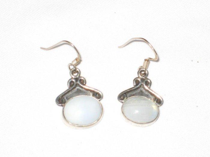 ER031       Opal Earrings in Sterling Silver