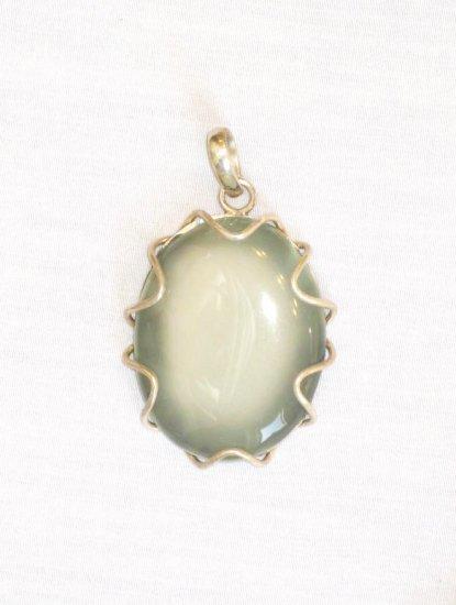 PN460       Opal Pendant in Sterling Silver