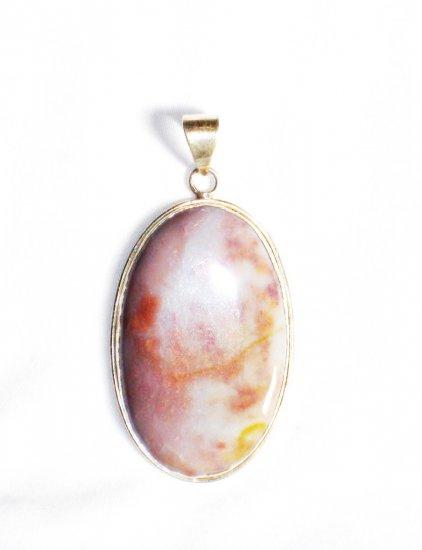 PN221       Pink Opal Pendant in Sterling Silver