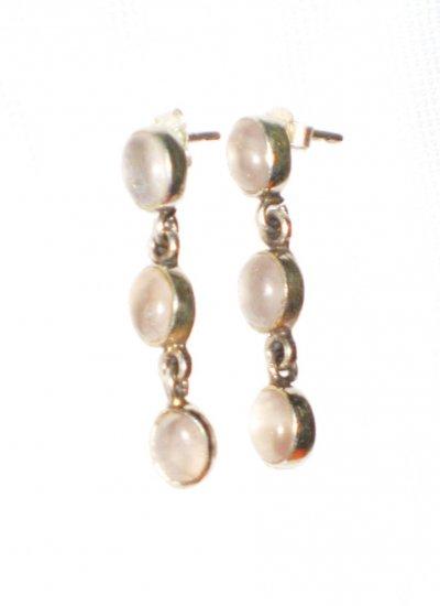 ST393       Rose Quartz  Earrings in Sterling Silver