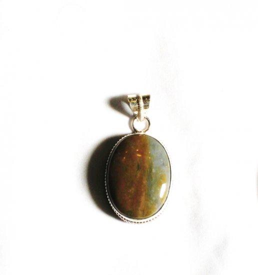 PN228       Sardonyx Pendant in Sterling Silver