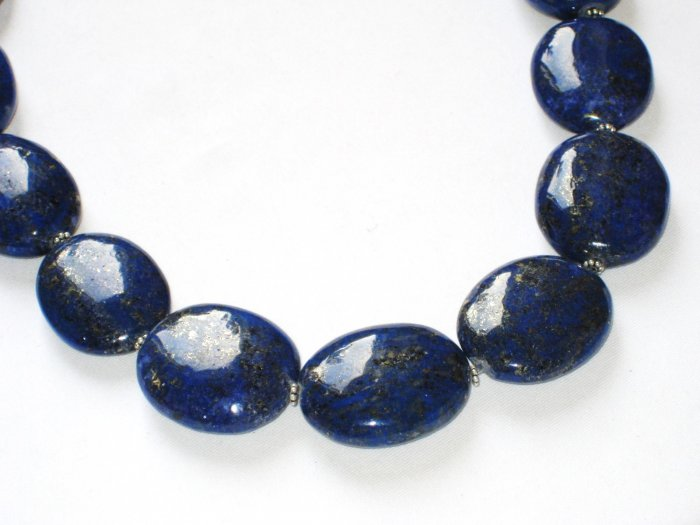 ST085       Sodalite Necklace in Sterling Silver