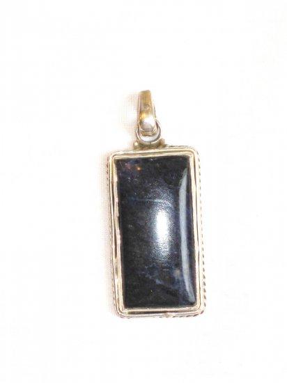 PN061       Sodalite Pendant in Sterling Silver