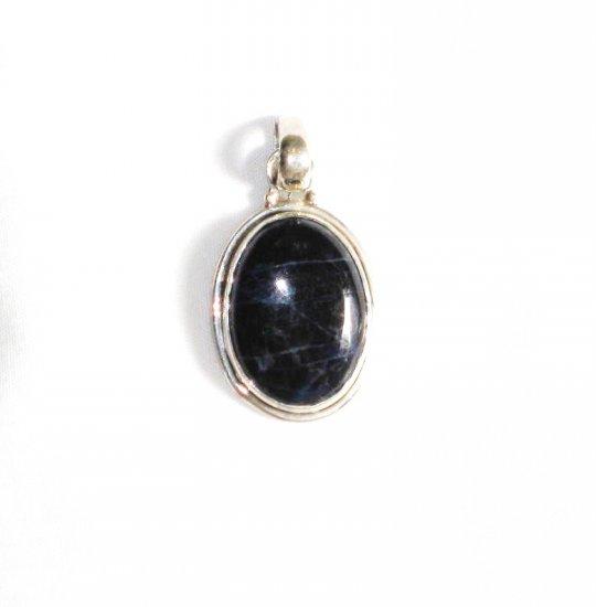 PN193       Sodalite Pendant in Sterling Silver