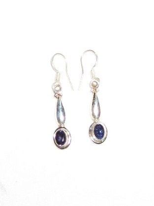ER034       Sapphire Earrings in Sterling Silver