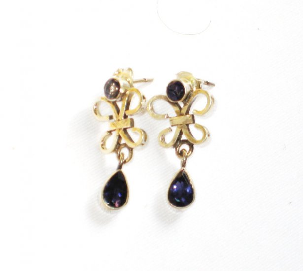 ER076       Sapphire Earrings in Sterling Silver