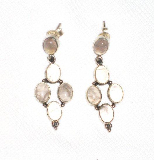 ST397       Quartz  Earrings in Sterling Silver