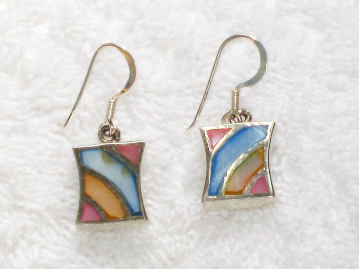 ER079       Mixed Stones Earrings in Sterling Silver