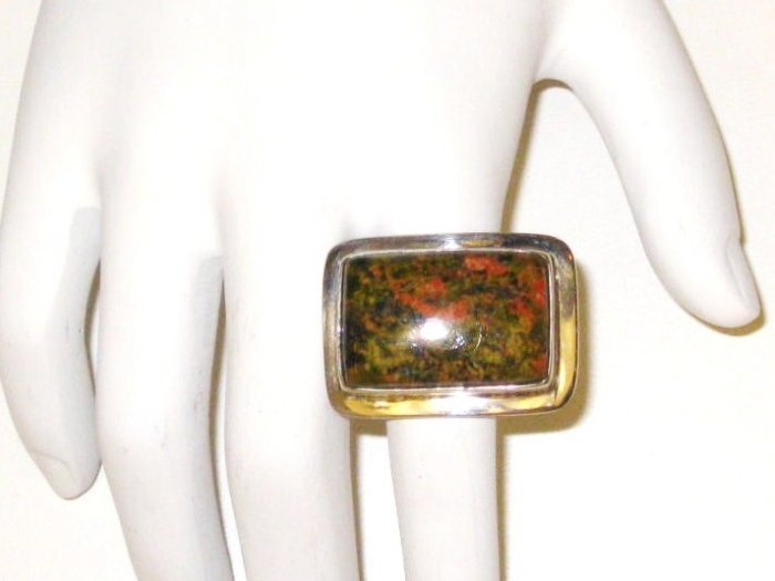 RG007 - Agate Ring in Sterling Silver - Size 10