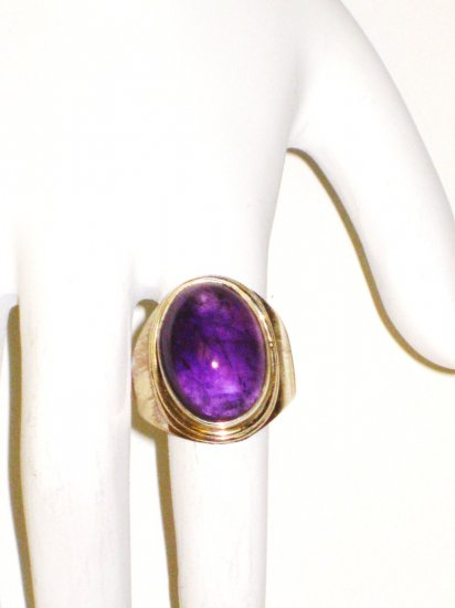 RG037       Amethyst Ring in Sterling Silver - Size 8.5