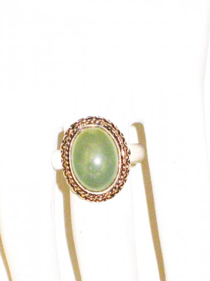RG023       Chalcedony Ring in Sterling Silver Size 6.5