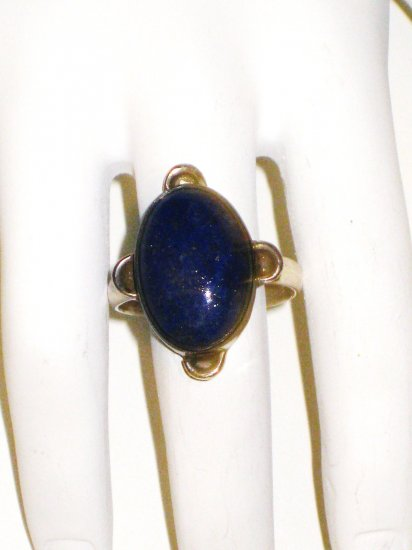 RG019       Lapis Lazuli Ring in Sterling Silver, Size 8