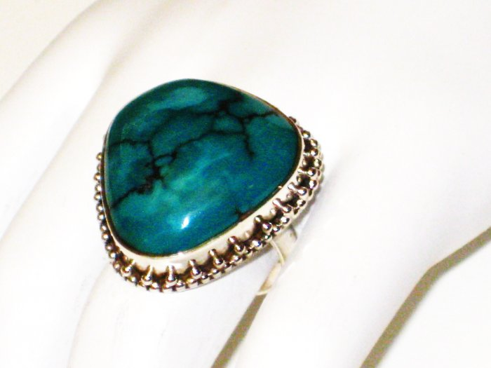 RG105       Turquoise Ring in Sterling Silver, Size 7
