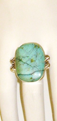 RG122       Turquoise Ring in Sterling Silver, Size 7