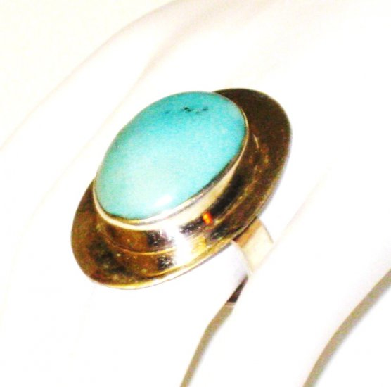 RG133       Turquoise Ring in Sterling Silver, Size 8