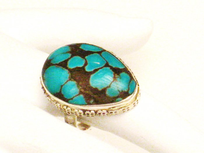 RG180       Turquoise Ring in Sterling Silver, Size 5