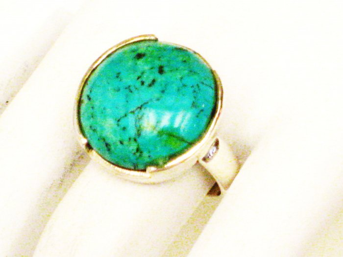 RG151       Turquoise Ring in Sterling Silver, Size 7