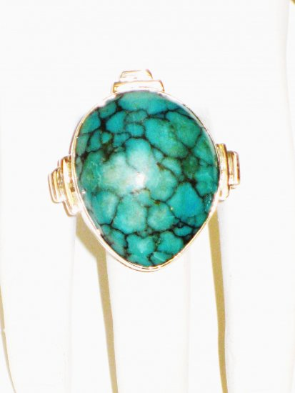 RG152       Turquoise Ring in Sterling Silver, Size 7
