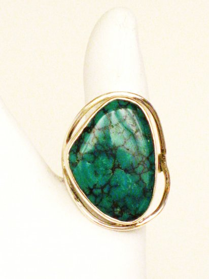 RG159       Turquoise Ring in Sterling Silver, Size 7