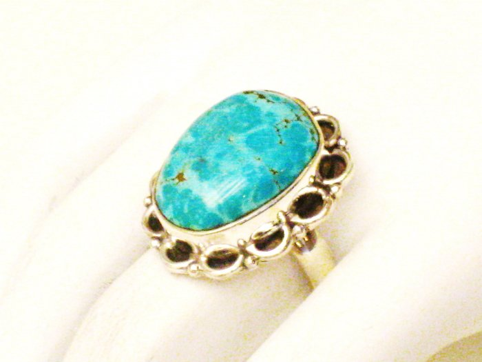RG164       Turquoise Ring in Sterling Silver, Size 7