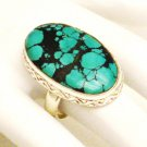 RG165       Turquoise Ring in Sterling Silver, Size 7
