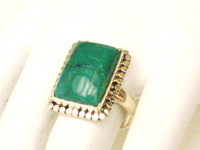 RG166       Turquoise Ring in Sterling Silver, Size 7