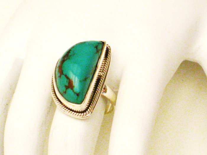 RG173       Turquoise Ring in Sterling Silver, Size 7