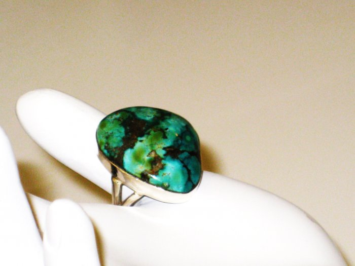 RG149       Turquoise Ring in Sterling Silver, Size 9