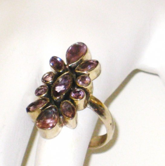 RG053       Amethyst  Ring in Sterling Silver, Size 6