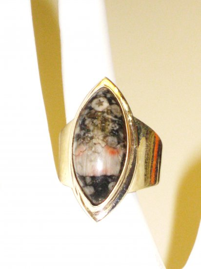 RG078       Agate Ring in Sterling Silver, Size 10