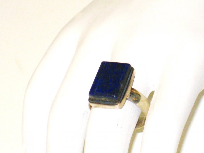 RG074       Lapis Lazuli Ring in Sterling Silver, Size 8