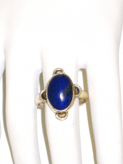 RG080       Lapis Lazuli Ring in Sterling Silver, Size 8