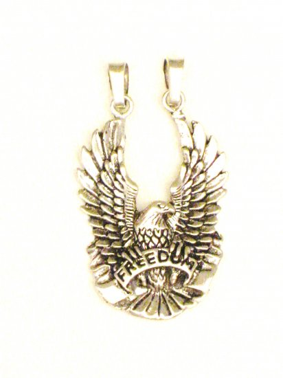 CP006       Freedom Flying Eagle Pendant in Sterling Silver