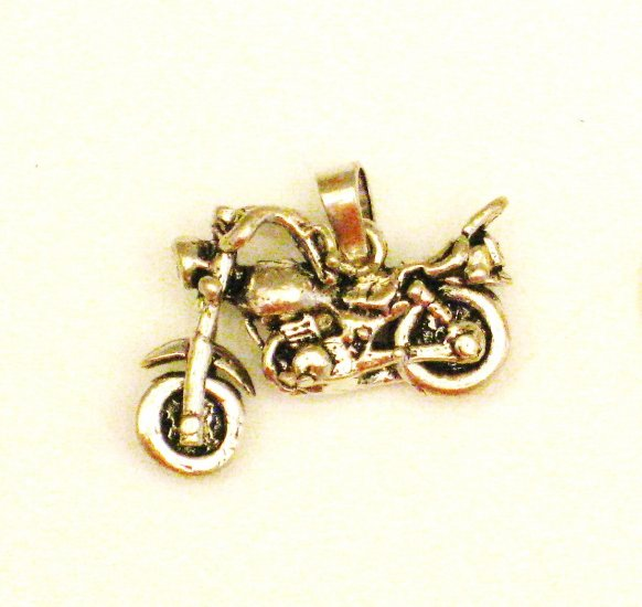 CP022       Motorcycle Pendant in Sterling Silver