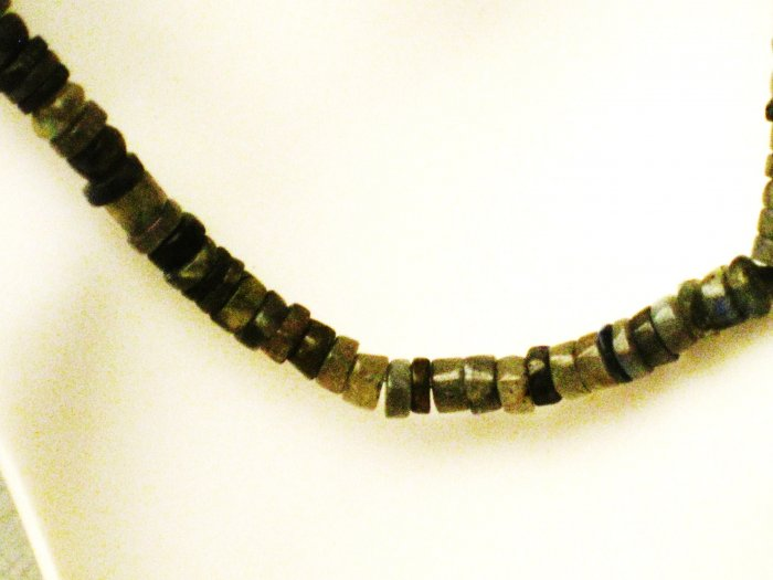 NK003       Garnet and Labradorite Necklace in Sterling Silver